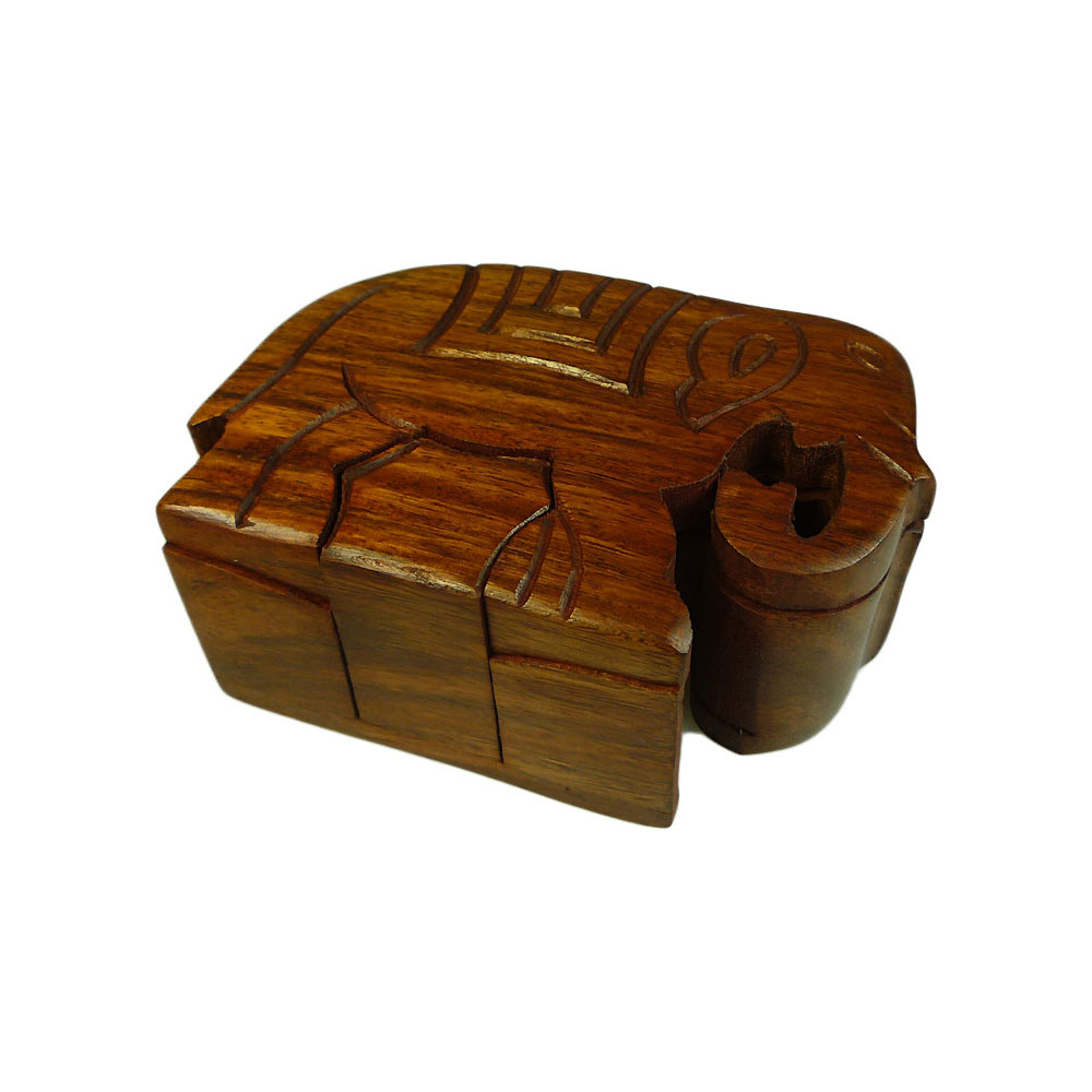 Unique Gift Shop London Elephant Wooden Puzzle Box