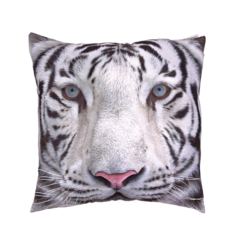 Snow Tiger Cushion With Insert