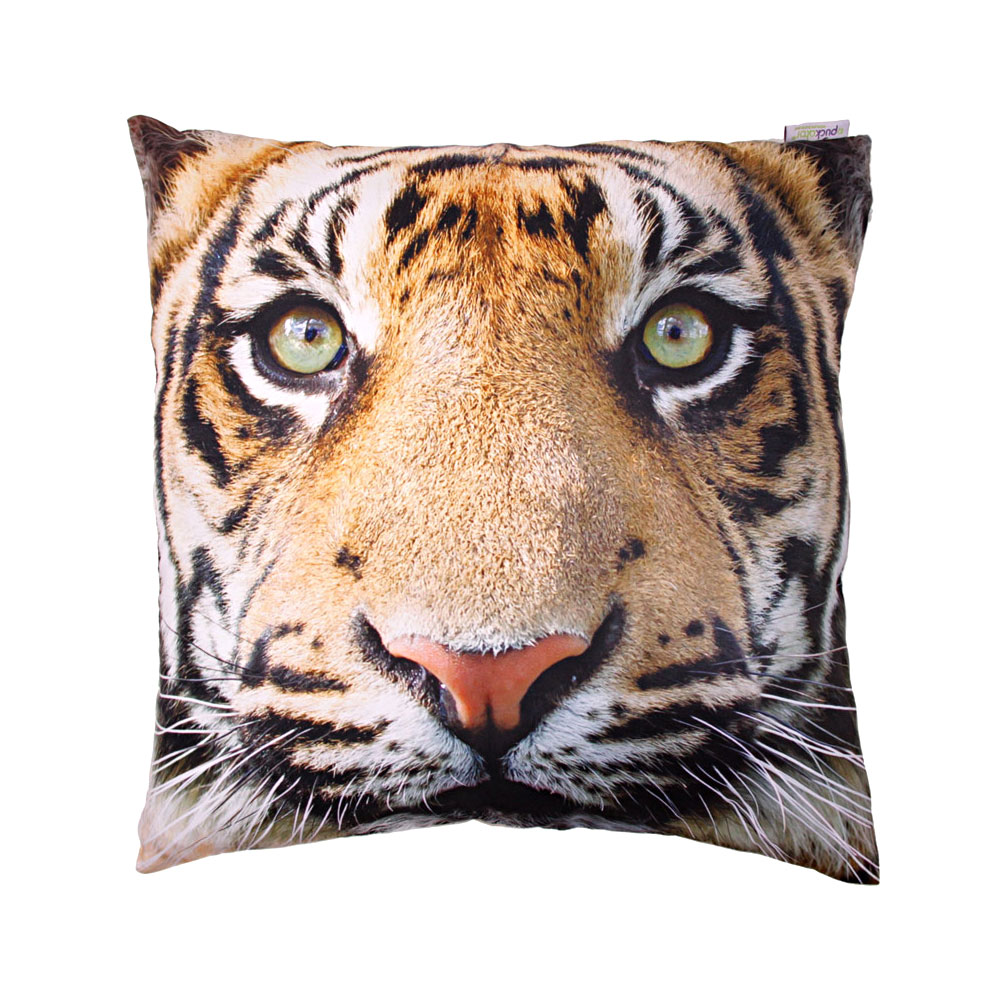 Tiger Print Cushion With Insert